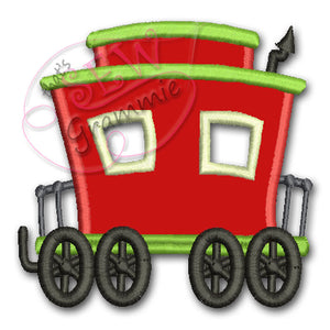 Choo Choo Train Caboose Applique Design