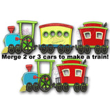 Choo Choo Train Applique Design Full Set