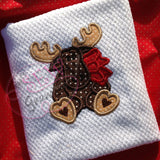 Christmas Moose Applique Design