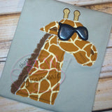 Cool Giraffe Applique Design