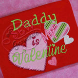 Daddy is My Valentine Applique Design