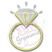 Diamond Ring Applique Design