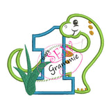 Dino Birthday ONE Applique Design