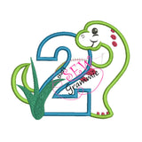 Dino Birthday Applique Complete Design SET