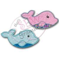Baby Dolphin Applique Design