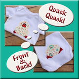 Baby Duck Front & Back Applique