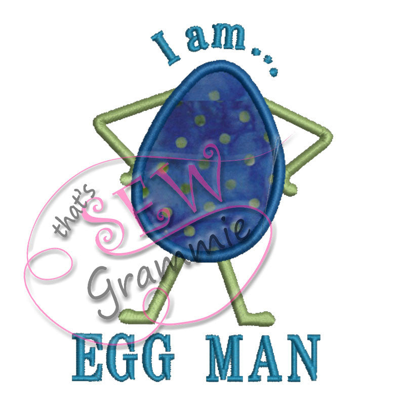 Egg Man Applique Design