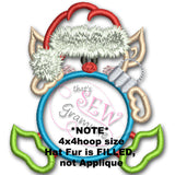 Elf with Ornament Frame Applique Design