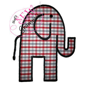 Elephant Applique Design