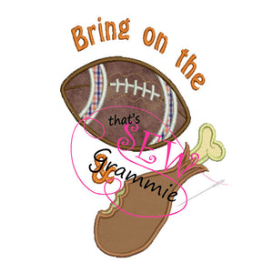 Football and Turkey Applique Design