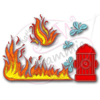 Fire Fighter add on Applique Designs