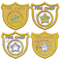 Fire Badge Applique Design