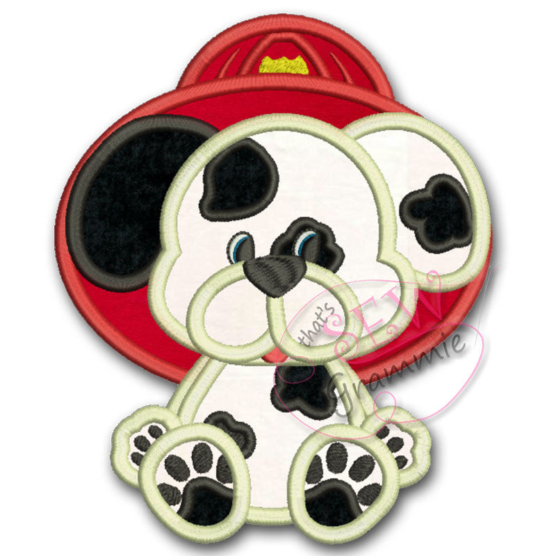 Fire Pup Applique Design