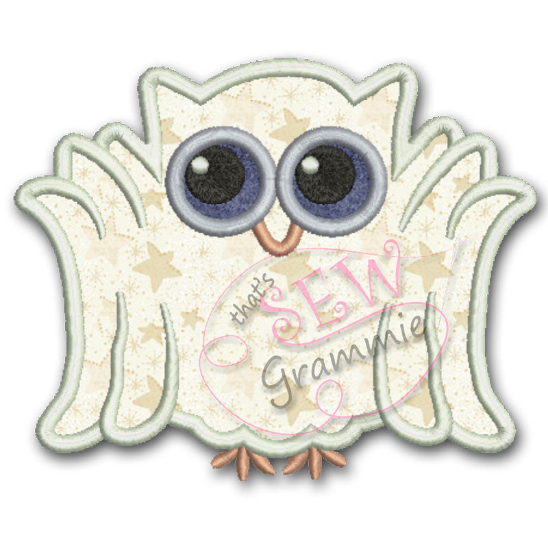 Ghost Owl Applique Design