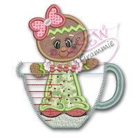 Baking Ginger in Cup Applique Design