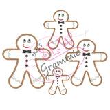 Gingerbread Boy Formal Applique Design