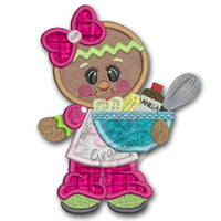 Baking Ginger w Supplies Applique Design