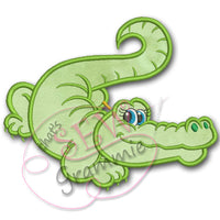 Flirty Girlie Gator Applique Design