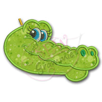 Girlie Gator Head Applique Design
