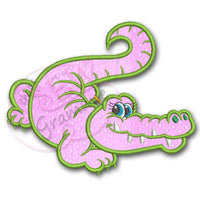Girlie Gator Toothy Applique Design