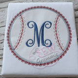 Girlie Softball Applique Design