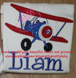Happy Airplane Applique Design