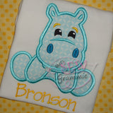 Hippo Boy Applique Design Set