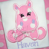 Hippo Girl Applique Design Set