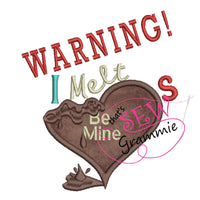 I Melt Hearts Applique Design