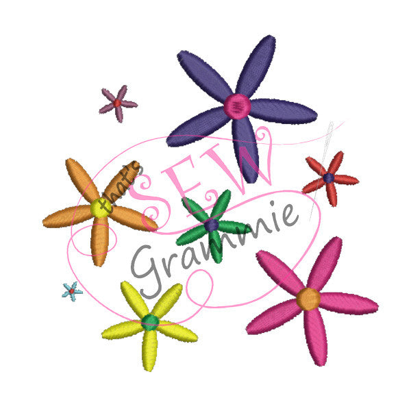 Just Flower Embellishment Embroidery Designs