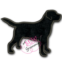 Labrador Retriever Silhouette Applique Design