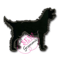 Labradoodle Silhouette Applique Design