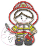 Firefighter BOY Applique Design