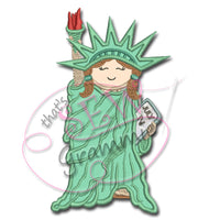 Little Libby Statue of Liberty Applique Design