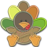 Little Turkey Applique Design