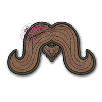 In the Hoop Long Mustache Lolli-Proppie for Valentines Lollipops