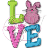 LOVE Bunny LOVE 2 Applique Design
