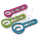 ITH Measuring Spoon Applique Design Set