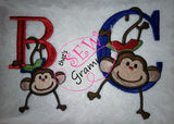 Hanging Monkey Boy Embroidery Embellishment Design