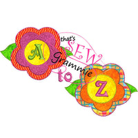 In the Hoop Monogram Flower A-Z Feltie or applique SET