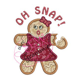 Mrs. OH SNAP Gingerbread Applique Design