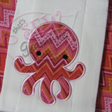 Baby Octopus Applique Design