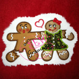 OH SNAP Gingerbread Applique Design LOVE
