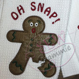 OH SNAP Gingerbread Man Applique Design