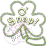 Oh Snap Shamrock Applique Design in 3 styles