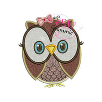 Owl Cutie Applique Design