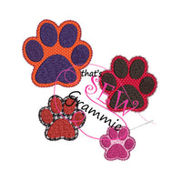 In the hoop Paw Print Felties
