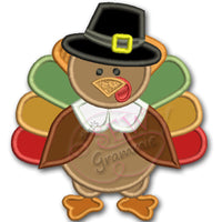 Turkey Pilgrim BOY Applique Design