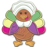 Turkey Pilgrim GIRL Applique Design
