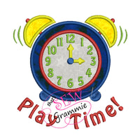 Playtime Alarm Clock Applique Design